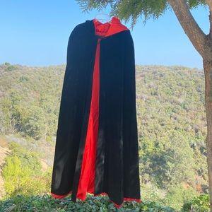 Adult Cape Hooded Cloak Halloween Costume Velvet